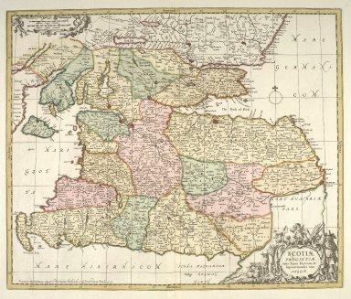 Scotiae provinciae inter Taum Fluvium, et septentrionalis oras Angliae. [1 of 1]
