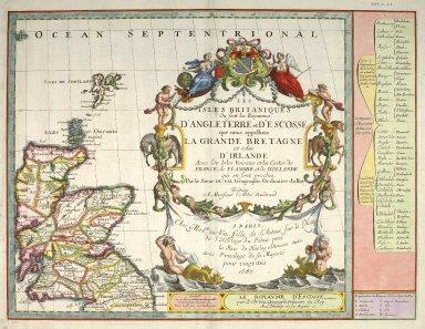 Les Isles Britaniques, ou sont les Royaumes d'Angleterre et d'Escosse que nous appellons La Grande Bretagne et celui d'Irlande avec les Isles Voisines et les Costes de France, de Flandre et de Hollande qui en sont proches [1 of 1]