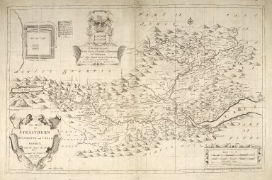 The Mapp of Straithern, Stormount, and Cars of Gourie, with the Rivers Tay and Jern [1 of 1]