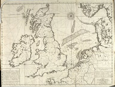 A Hydrographical Description, or, Chart of the Sea Coasts of Great Britain, Ireland, France, Holland, Germany, Denmark, & Norway, bordering on the North Sea ... [1 of 1]