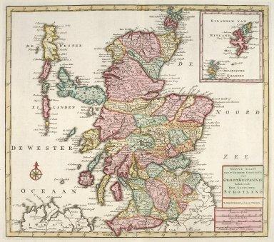 Nieuwe kaart van 't noorder gedeelte van Groot Britannie behelzende het Koningryk Schotland [1 of 1]