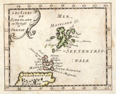 Les Isles de Schetland ou Thylinsel et Orknay. [1 of 1]