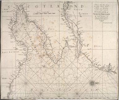 A Large Chart Describeing the Sands, Shoales, Depth of Water and Anchorage on the East Coast of Scotland ats North Britain [1 of 1]