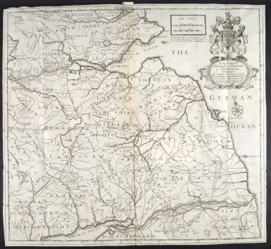 To the Rt. Honble Thomas E. of Pembroke & Montgomery this map shewing the situation of all the principal Roman camps, forts, walls &c., between ye River Tyne in Eng. and Tay in Scot. [1 of 1]