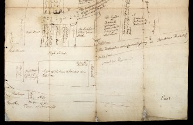 [Detail of the lower half of:] View by way of plan, of the roads from Inverness to Muirtown, 1743 [1 of 1]