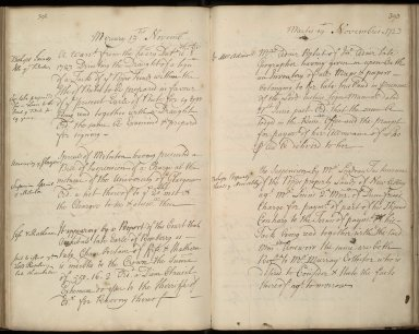 [Minute relating to Mrs Adair's pension and inventory of John Adair's papers and plans] [1 of 1]
