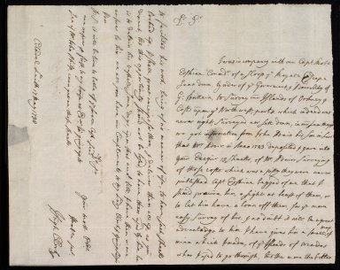 [Letter from Hugh Clerk, Citadell, Leith, to Sir John Clerk of Penicuik concerning Captain Erskine's loan of Adair's maps of Orkney from Exchequer] [1 of 2]