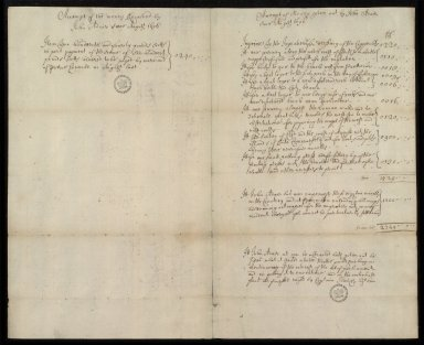 [Financial Accounts of John Adair, August 1696 to February 1698] [1 of 2]