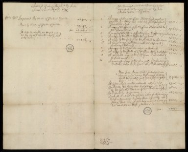 [Financial Accounts of John Adair, August 1695 to August 1696] [1 of 2]