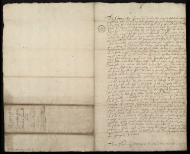 Report of the Committie of the privie Councill Anent John Adair [...] 15 Novemb: 1694. [1 of 2]