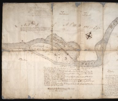 Plan of that part of the Waters of Dee and Cluny and of the grounds on both sides, anent which Invercald and Auchyndryn are disputing [1 of 3]
