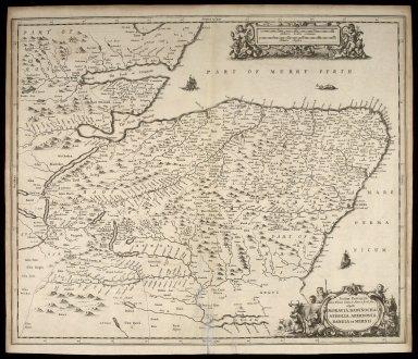 Scotiae provinciae intra Flumen Taum, et Murra fyrth sitae, fitae utpote Moravia, Badenoch, Atholia, Aberdonia, Baneia et Mernis. [1 of 1]