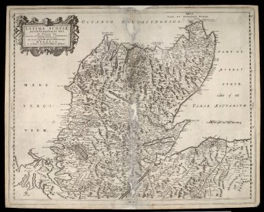 Extima Scotiae septentrionalis ora, ubi Provinciae sunt Rossia, Sutherlandia, Cathenesia, Strath-Naverniae, cum vicinis regiunculis quae eis subsunt, etiamque Moravia [1 of 1]