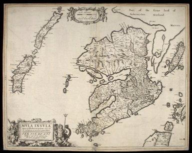 Mula Insula, quae ex Aebudarum numero una est, et Lochabriae ad occasum praetenditur [1 of 1]