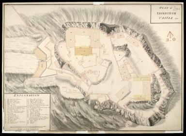 Plan of Edinburgh Castle 1750 [1 of 1]