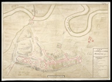 A Plan of the town and castle of Sterling [i.e. Stirling] 1725 [1 of 1]