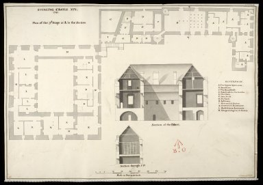 Sterling [i.e. Stirling] Castle, No. 1. 1741 [copy of 1719 plan] [1 of 1]