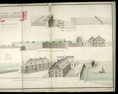 Profiles and elevations relating to the plan of Fort William 1733 [copy] [2 of 2]