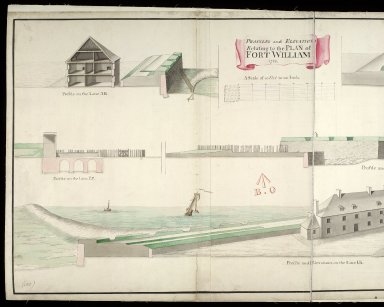 Profiles and elevations relating to the plan of Fort William 1733 [copy] [1 of 2]