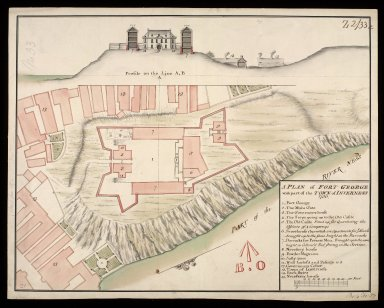 A Plan of Fort George wth part of the town of Inverness 1730 [copy] [1 of 1]