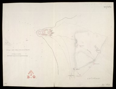 Sketch of the ground about Fort George [1 of 1]