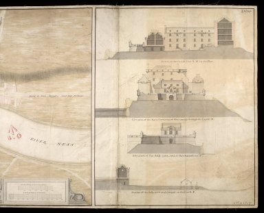 A Plan of Fort George, & part of the town of Inverness : with proper sections relating to the fort anno 1732 [2 of 2]