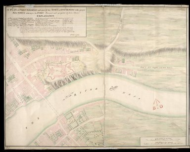 A Plan of Fort George and part of the town of Inverness : with proper sections relating to the fort anno 1732 [copy] [1 of 2]