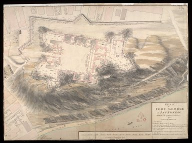 Plan of Fort George at Inverness, shewing it's present condition, 1750 [1 of 1]