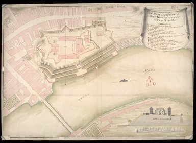 A Plan and section of Fort George with part of the town of Inverness [about 1730] [1 of 1]
