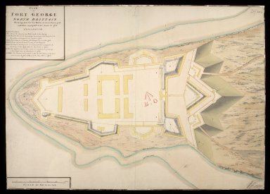 Plan of Fort George North Brittain [ie. Britain] : shewing how far the works are carried on in 1750; and what is propos'd to be done in 1751 [1 of 1]