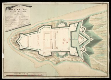 A Plan of Fort George North Britain 1752 [1 of 1]