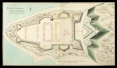 A Plan of Fort George North Britain : shewing how far executed 1753 [copy] [1 of 1]