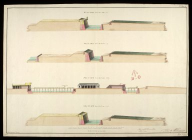 [Fort George North Britain, 1753] : section thro' the line 1.2; section thro' the line 3.4; section thro' the line 5.6.7; section thro' the line 8.9 [1 of 1]