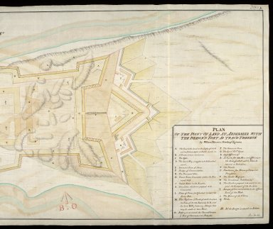 Plan of the point of land at Arderseer [i.e. Ardersier] : with the design'd fort as trac'd thereon [copy] [2 of 2]
