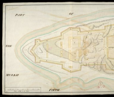 Plan of the point of land at Arderseer [i.e. Ardersier] : with the design'd fort as trac'd thereon [copy] [1 of 2]