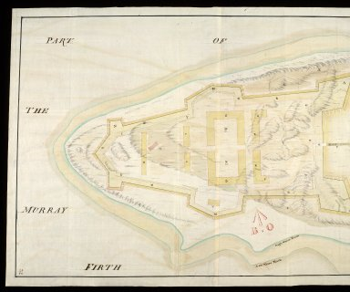 A Plan of the point of land at Arderseer [i.e. Ardersier] : with the design'd fort as trac'd thereon [copy] [1 of 2]