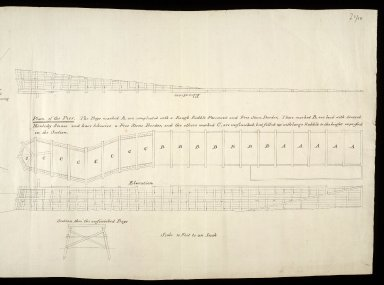 [Shore at Fort George showing tides]; Plan of the Pier [2 of 2]