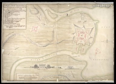 A Plan of Fort Augustus with the old barracks and situation 1734. [1 of 1]