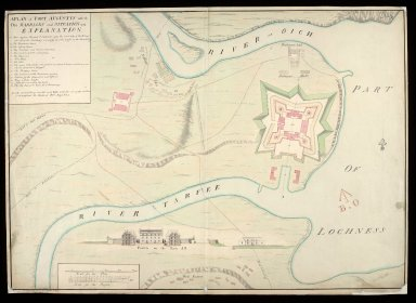 A Plan of Fort Augustus with the old barracks and situation 1734 [copy] [1 of 1]