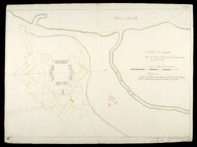 A Plan of Fort Augustus : with the proposed additional works; expressed by the yallow lines [1 of 1]