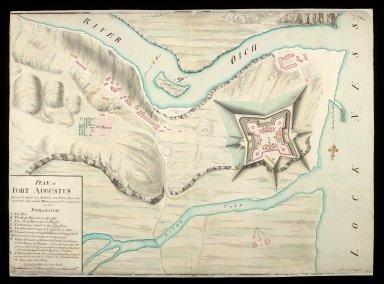 Plan of Fort Augustus [copy] : shewing the repairs and additions done between Iune and September 1747, with the works proposed to be compleated in 1748 [1 of 1]