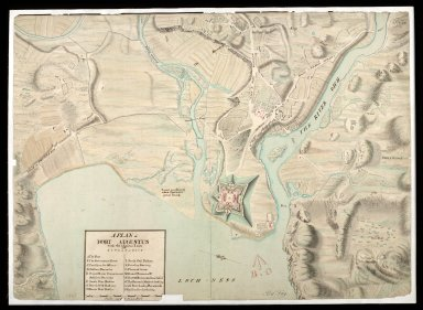A Plan of Fort Augustus with the adjacent lands 1750 [copy] [1 of 1]