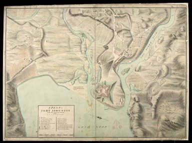A Plan of Fort Augustus with the adjacent lands 1750 [1 of 1]