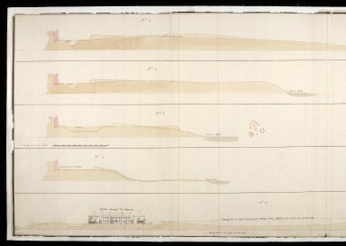 [Sections of Fort Augustus, 1747] : No.1, No.2, No.3, No.4 and No.5 [copy] [1 of 2]