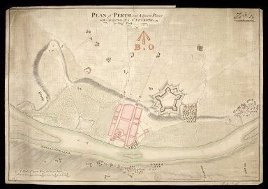 Plan of Perth and adjacent places : with a projection of a cittadel [copy] [1 of 1]