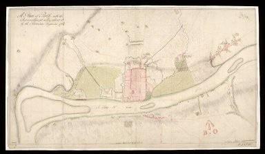 A Plan of Perth with the retrenchment made about it by the Pretenders engineers 1715/6 / [1 of 1]