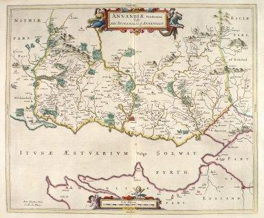 Annandiae Praefectura. Vulgo The Stewartrie of Annandail. [1 of 1]