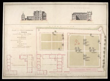 Plan of train barracks at Perth : formerly the house of Earl Gowry 1754 [1 of 1]