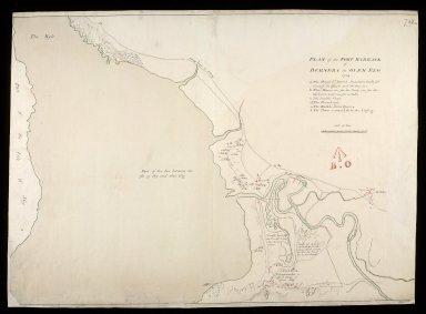 Plan of the fort barrack of Bernera in Glen Elg 1719 [copy] [1 of 1]