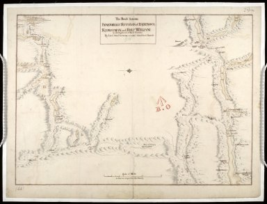 The Roads between Innersnait Ruthvan of Badenock Kiliwhiman and Fort William in the highlands of North Brittian 1718 [copy] [1 of 1]